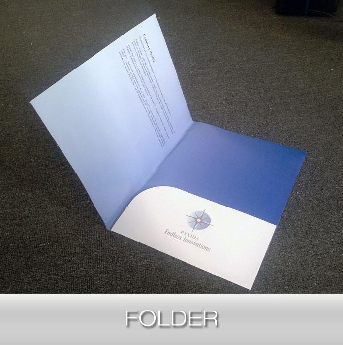Paper folder/plastic folder